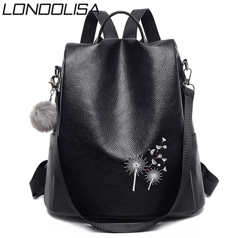 Hairball Anti Theft  3 In 1 Women Backpack High Quality Soft Pu Leather Backpack Shoulder Bags Foe Women 2020 BagPack Sac A Dos