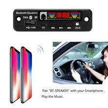 Hot Handsfree Car Kit TWS 3.5mm Bluetooth 5.0 APE/MP3 Decoding Decoder Board 5V Wireless FM Radio TF USB AUX Audio MP3 Player