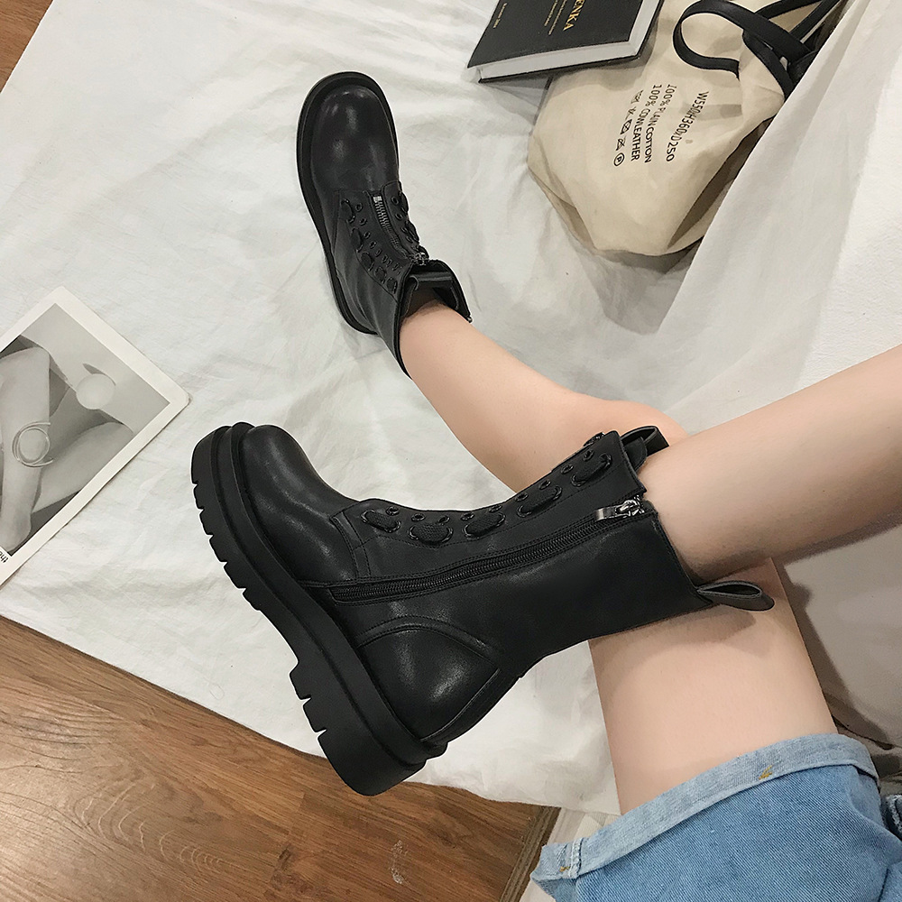 Martin boot women 2020 new summer rough 100 retro thick British knight boots ins tide single boot women shoes