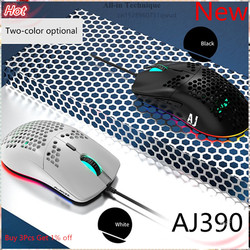 Ajazz New Lightweight Wired Mouse AJ390 Hollow-Out Gaming Mouce Mice 6 DPI Adjustable 7Key AJ390R