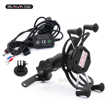 Camera VCR Phone Holder For SUZUKI DRZ400 E/S/SM DR-Z 400 AN 250/400 LT-A400F Burgman Motorcycle USB Charger GPS Navigation
