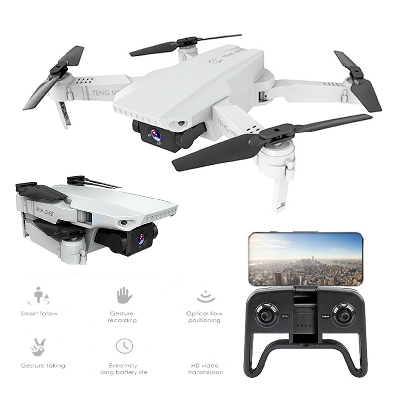 KF609 RC Drone With 720P 4K Optical flow Dual Lens HD Camera Mini Folding RC Quadcopter WIFI Selfie Drones Aerial Toys