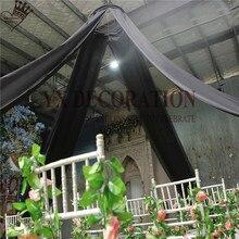 1 шт продано 12 шт дизайн шифон драпировка для потолка крыша ткань для навеса драпировка для украшение для свадьбы
