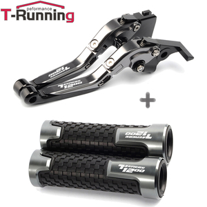 Image 4 - Motorcycle Handle grips handlebar grip & Extendable Brake Clutch Levers For Yamaha tenere1200 Tenere 1200 XT1200Z