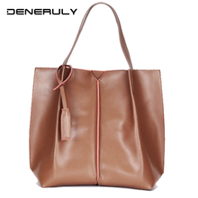 купить Large Genuine Leather Handbag Women Vintage Soft Leather Crossbody Bag Designer Famous Brand Top-Handle Bag 2019 Bolsos Luxuosas дешево