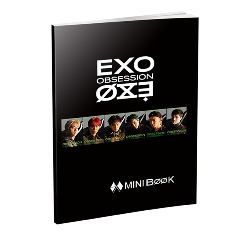EXO New Ablum OBSESSION Fashion K-pop EXO Mini Photobook Photo Card Fans Collection Upplies Stationery Set