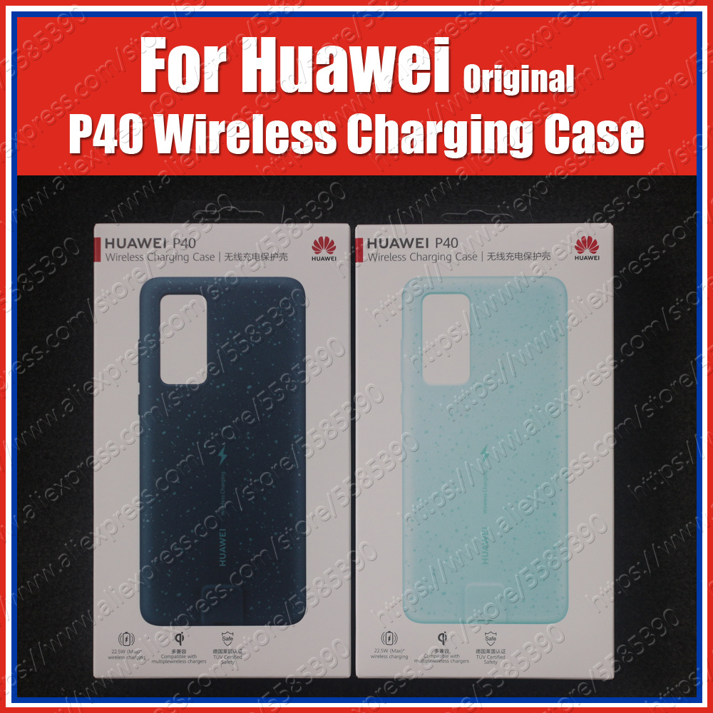 22.5W Original P40 Wireless Charging Case ANA-AN00 Magnetic Back Cover Supports Car Mount