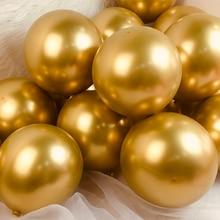 Доставка производится в течение 5-30 шт металлический цвета: золотистый, серебристый зеленый фиолетовый воздушных шаров свадьбные латексные...