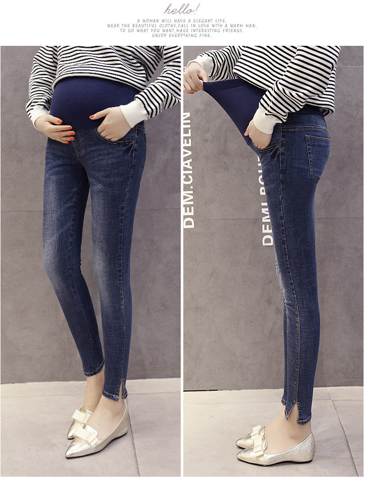 Blue Maternity Pants Casual Trousers For Pregnant Women Clothing Cotton Sport Pregnancy Clothes Gravida Wear Loose Pants 2020 (9)