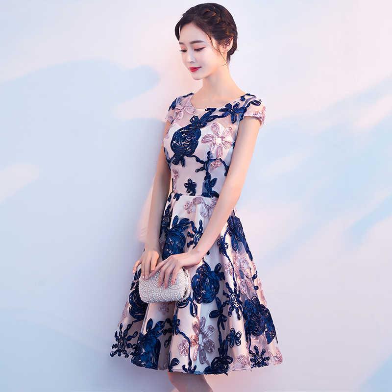 Wei yin AE0419 Красочные Короткие платья для выпускного вечера 2020 Новое сексуальное платье для выпускного вечера на заказ Тюлевое кружевное платье длиной до колен Вечерние платья для выпускного вечера