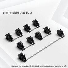 Plate mounted Black Cherry Stabilizers Clear Satellite Axis 7u 6.25u 2u  For Mechanical Keyboard Modifier Keys