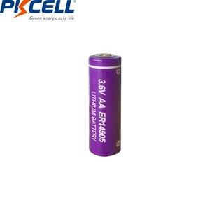 Image 3 - 6 LiSCLO2 ER14505 pçs/lote PKCELL 3.6V 14505 2400mah AA Bateria Superior LR6 R6P 1.5V Baterias Para Câmeras de Rastreamento GPS