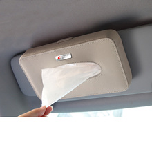 Lsrtw2017 Genuine Leather Car Interior Hangling Tissue Box for Audi A3 A4 A6 Q3 A5 Accessories