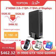 2020 Newest Gaming Mini PC Core i9 9900 i7 9700 i5 9400F GeForce GTX 1650 4GB GDDR6 Desktops Win10 M.2 PCIE 4K HDMI2.0 DP WiFi