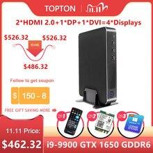 2020 più nuovo Gioco Mini PC Core i9 9900 i7 9700 i5 9400F GeForce GTX 1650 4GB GDDR6 Desktop Win10 M.2 PCIE 4K HDMI2.0 DP WiFi