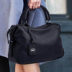 Image 1 - ZOOLER Designer Handbags Women Soft Genuine Leather  Hand Bags For Laies 2020 Luxury Brand Skin Shoulder Bag Winter Purses Bolsa