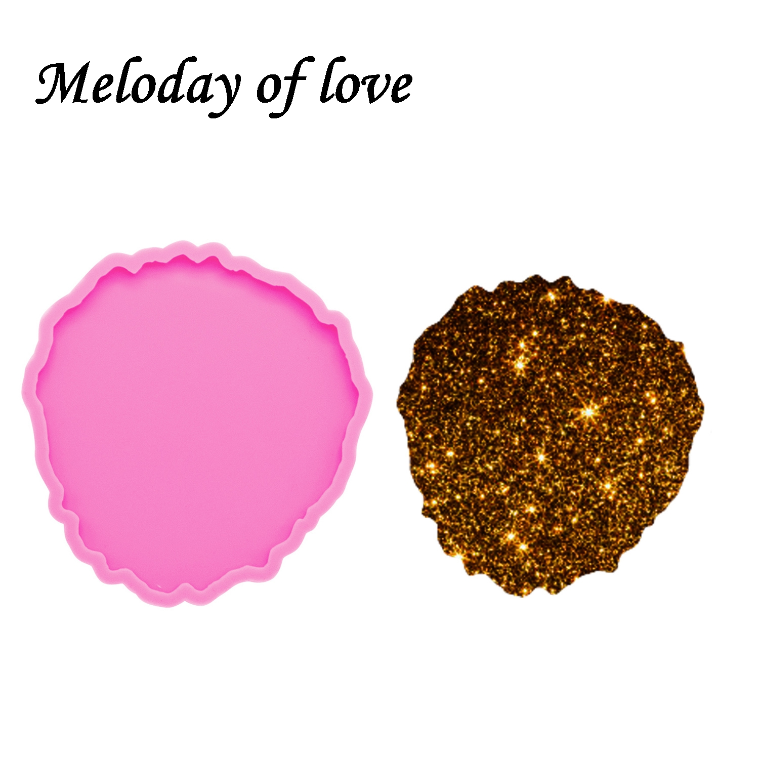 Shiny Glossy Round Shapes Epoxy Resin Molds Coaster Silicone Mold Diy Making Geode Coasters Custom Mould DY0253