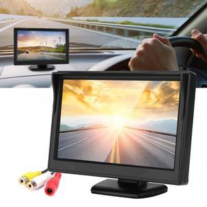 Image 2 - 5in voiture moniteur HD TFT LCD inversion Parking étanche moniteur pour voiture caméra de recul rétroviseur moniteur camara para auto