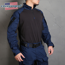 emersongearBlue Label G3 Gen3 Tactical Combat Shirt Navy Blue w Elbow Pads Slim Fit Military Duty Tops