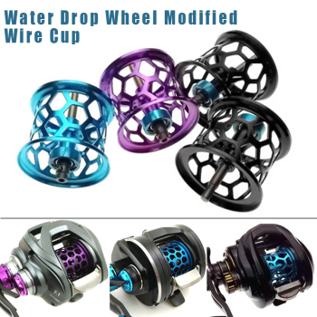 Metal Spin Fishing Reel Fish Wheel Spool Accessories Tackle Portable Durable Parts ALS88