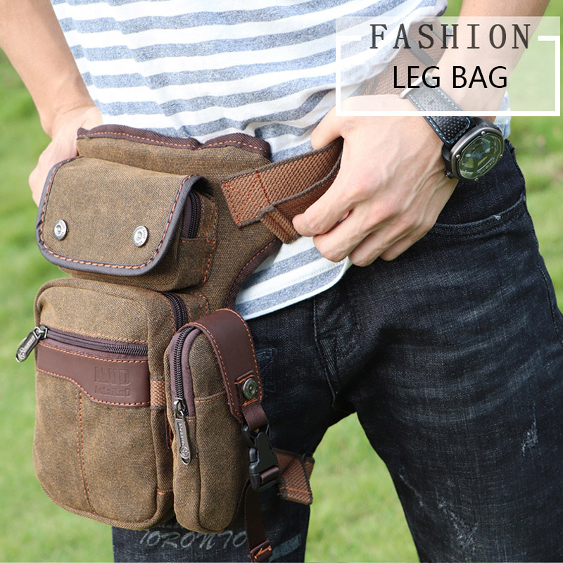 Men Drop Legsbag Motorcycle Thigh Hip Belt Bags Handyleg Fanny Pack Steampunk Waist Bag Male Tactical Phone Cross Body Pocket