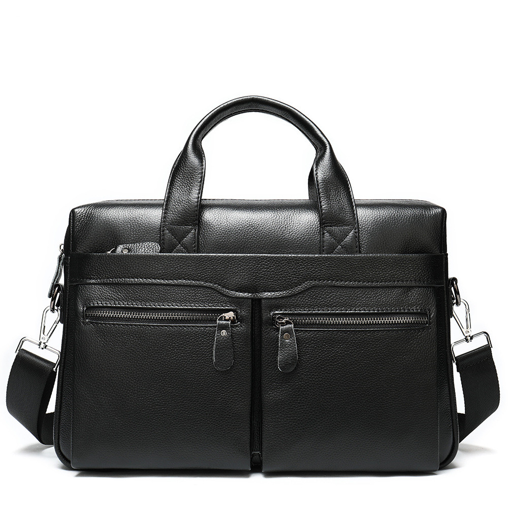 Maleta Vintage Men Genuine Leather Bag Laptop Handbag Men Office Bag Cowhide Briefcase For Man Business Bag Bolso De Mano Hombre
