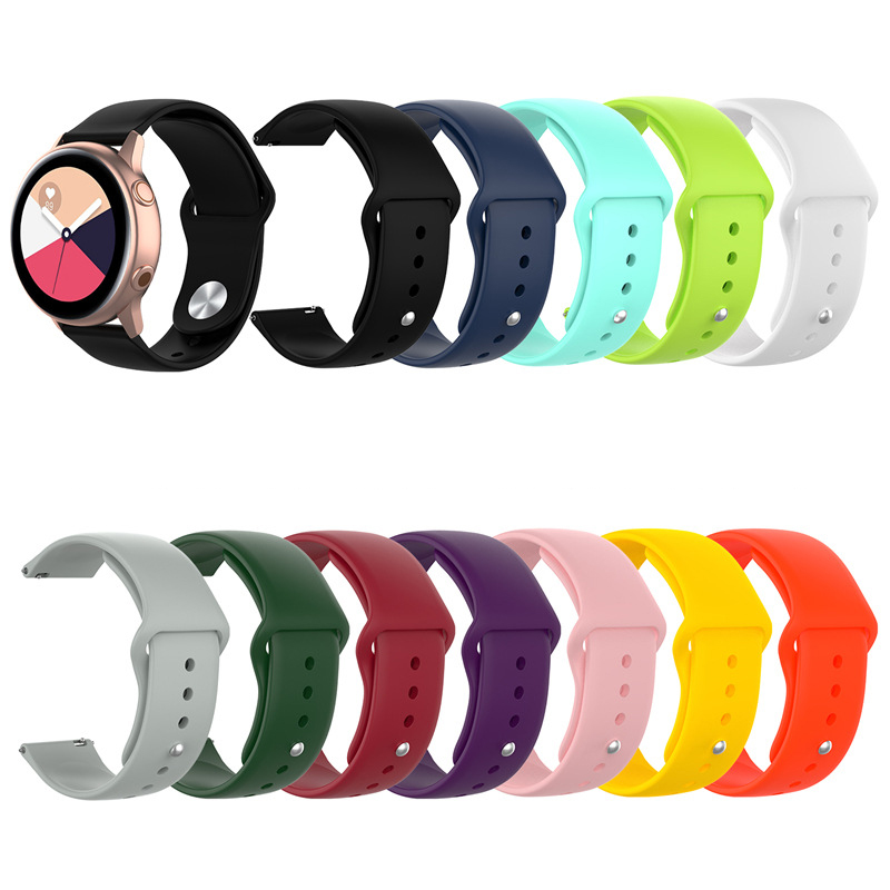 18mm 20mm 22mm Colorful Silicone Watchband For Samsung Galaxy Watch Active 42mm 46mm Gear S2 S3 Strap Band Amazfit Bip For Strap