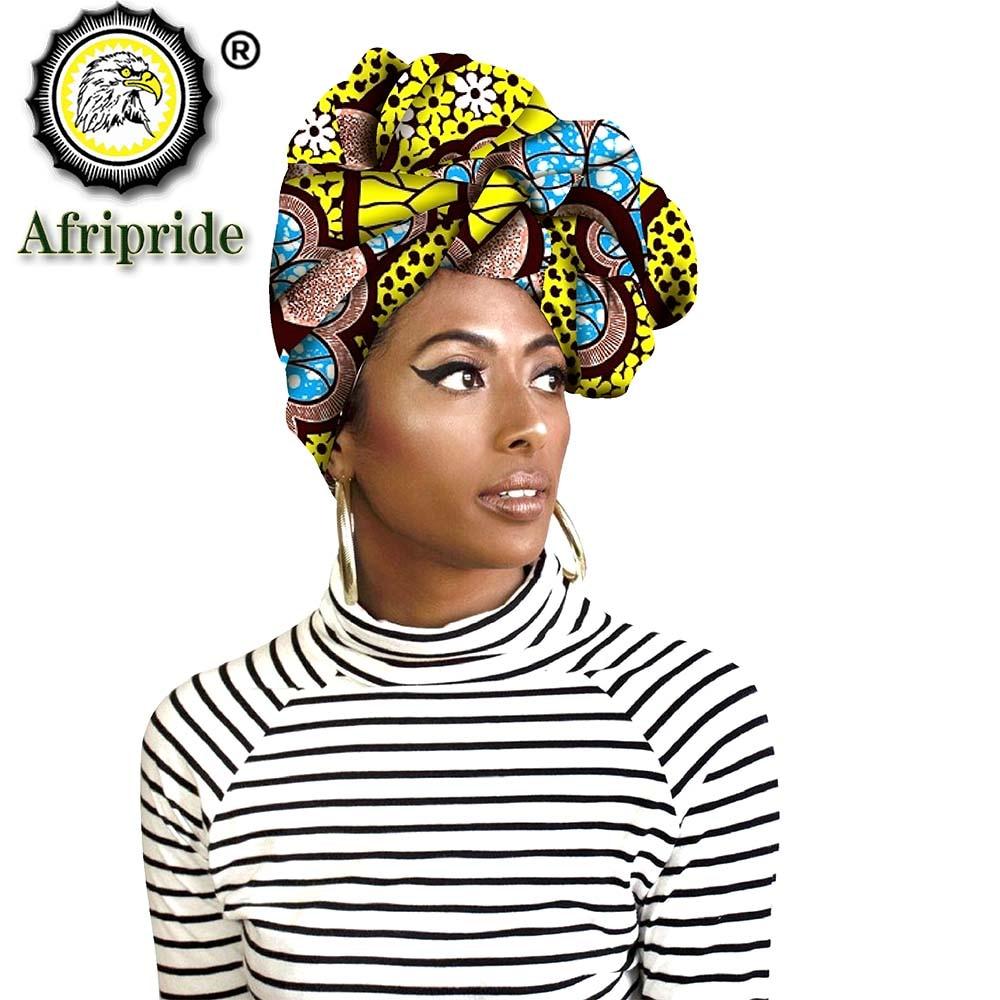 Fashion african head scarf print cotton high quality women african clothing bazin rich Headwear wax A18H002