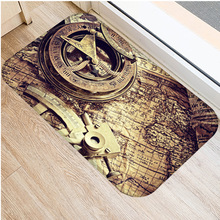 Classic Clock and Watch Style Interior Entrance Mat Non slip Kitchen Mat Bathroom Non slip Mat Home Bedroom Floor Mat 40x60cm  .