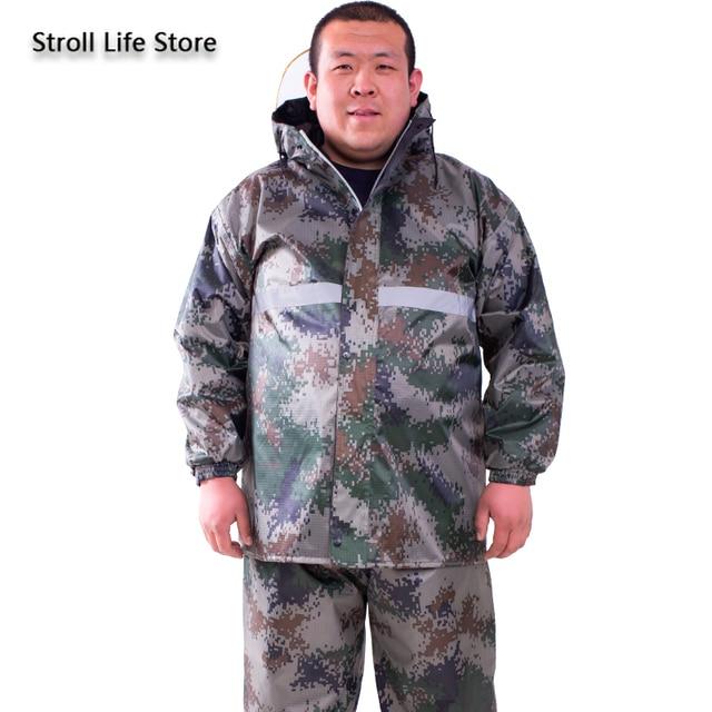 Large Plus-size Raincoat Men Rain Pants Set Double-Layer Fat Man Raincoat Waterproof Suit for Fishing Hiking Capa De Chuva Gift 5