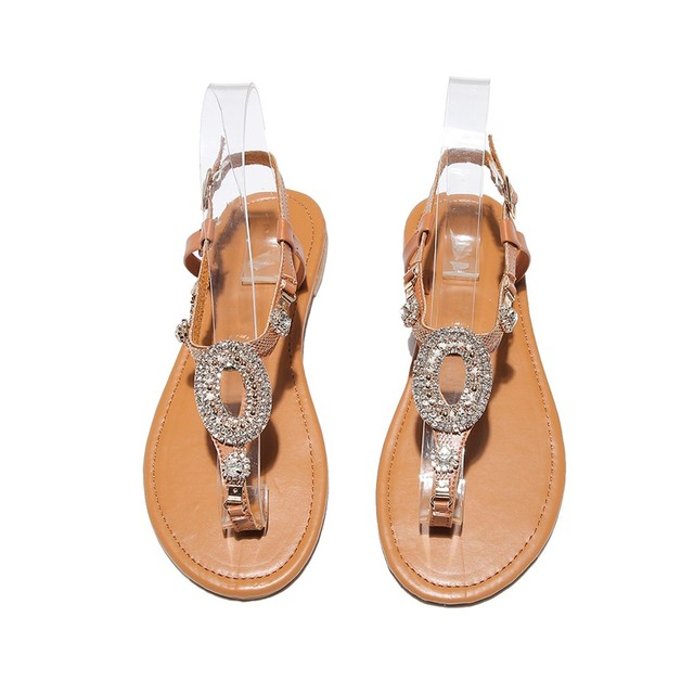 GlintLife   Flat trendy sandals   For feet beauty