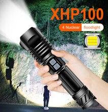 Xhp100 높은 강력한 LED 손전등 토치 충전식 18650 26650 USB 슈퍼 루멘 전원 플래시 빛 Xhp90 Xhp70 Xhp50 사냥