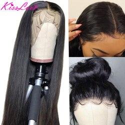 13х6 фронтальные человеческие волосы, парики, предварительно выщипанные, 180% плотность, бразильские прямые, 13х4, кружевной фронтальный парик с...