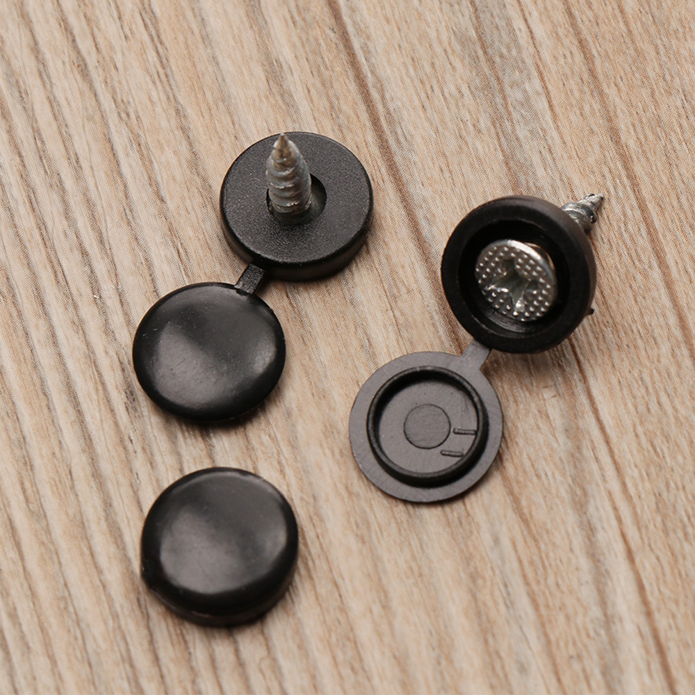 100 Pcs/Set Colorful Hinged Plastic Screw Cover Fold Snap Cap Button Nuts Bolts Protect Furniture Self-tapping Exterior Decor(China)