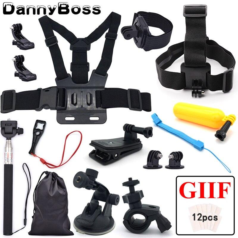 Head Strap Xiaoyi and Other Action Cameras Premium Remote Wrist Belt 5 in 1 Chest Belt Floating Bobber Tripod Mount Set for GoPro HERO7 //6 //5 //5 Session //4 Session //4 //3+ //3 //2 //1 Wrist Belt