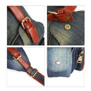 Image 5 - אופנתי ינס קלע תיק בציר פרחוני תחרה מזדמן יום חבילות אופנה נשים צלב גוף נסיעות כתף שקיות ג ינס חזה שקיות