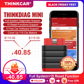 THINKCAR Thinkdiag Mini OBD2 Scanner Professional Bluetooth Diagnostic Tool 15 Reset Service Easydiag OBD 2 Automotive Scanner new thinkcar thinkdiag same as easydiag 3 0 x431 bluetooth adapter update online full system obd2 scanner diagnostic tool