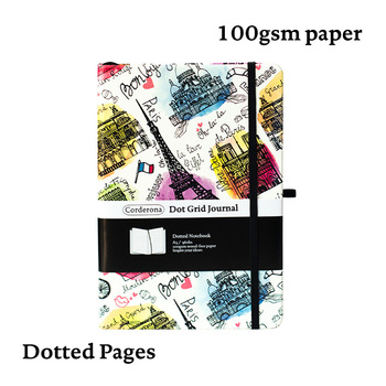 Bullet Dotted Journal Dot Grid NotebookHard Cover Paris Eiffel Tower Travel Diary A5 Bujo Planner
