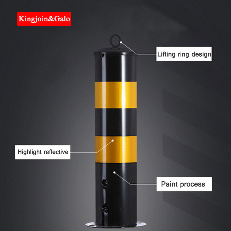 Steel Pipe Warning Column Reflective Warning Pile Road Guardrail Column Intersection Separation Pile Detachable Column Thickenin