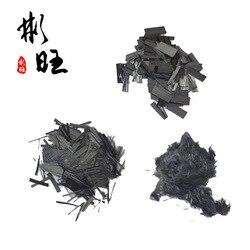 Короткий вырез 10 мм Высокопрочное углеродное волокно короткая обработка, настоящий углерод углеродное волокно, доступны три формы