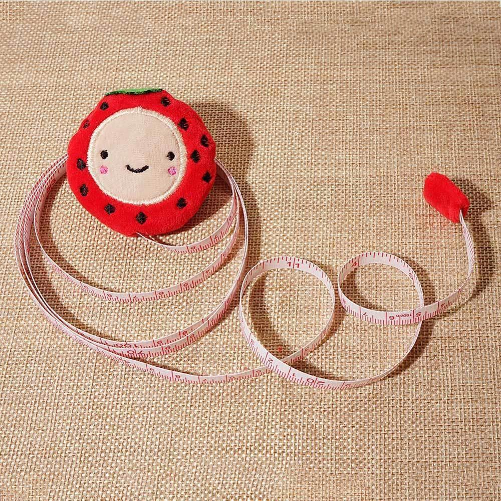 1pcs Retractable Fabric 150cm / 60 Inch Sewing Tailor Dieting DIY Ruler Cute Cartoon Plush
