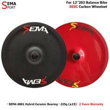 Fiets Wiel SEMA DISC Carbon Disc Wiel Voor Kid S Loopfiets/Push Fiets Kan Aangepaste Kleur Goede Kwaliteit