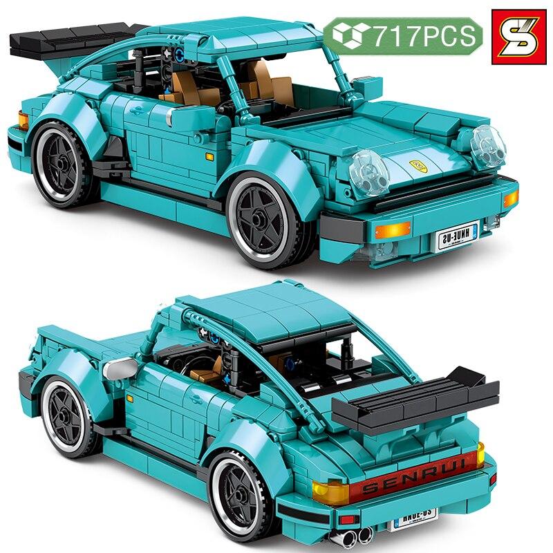 SY BLOCK высокотехнологичные идеи, знаменитый гоночный автомобиль, строительные блоки, супертрафик, модель автомобиля, кирпичи «сделай сам», и...