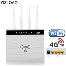 YIZLOAO 300Mbps 4G 3G Wifi Routers 4G LTE CPE Mobile Hotspot with LAN Port Support SIM card Portable Wireless Modem Wi Fi Router cheap CN(Origin) 1 x10 100 1000Mbps 1 x USB 2 0 2 4G None LT280 Wi-Fi 802 11g 802 11n 150 Mbps Firewall Soho