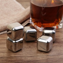 4/6/8PCS Stainless Steel 304 Whisky Stones Ice Cubes in Package, Ice stone islande With Plastic Box,Whiskey Cooler Rocks whiskey whisky