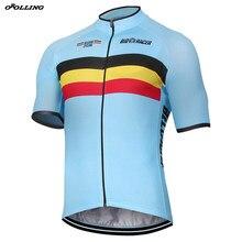 Bélgica nova equipe pro camisa de ciclismo personalizado superior orolling belga
