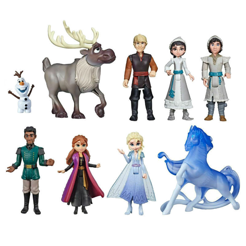 Frozen 2 5-11cm Anime Pvc Action Figures Princess Elsa Anna Kristoff Sven Olaf Birthday Toys For Children Gifts