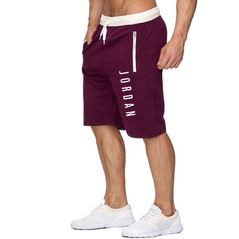 2020 Summer Jordan Shorts Men's Fitness Bodybuilding Shorts Men's Gym Workout Men Breathable Quick-drying Sportswear Joggers