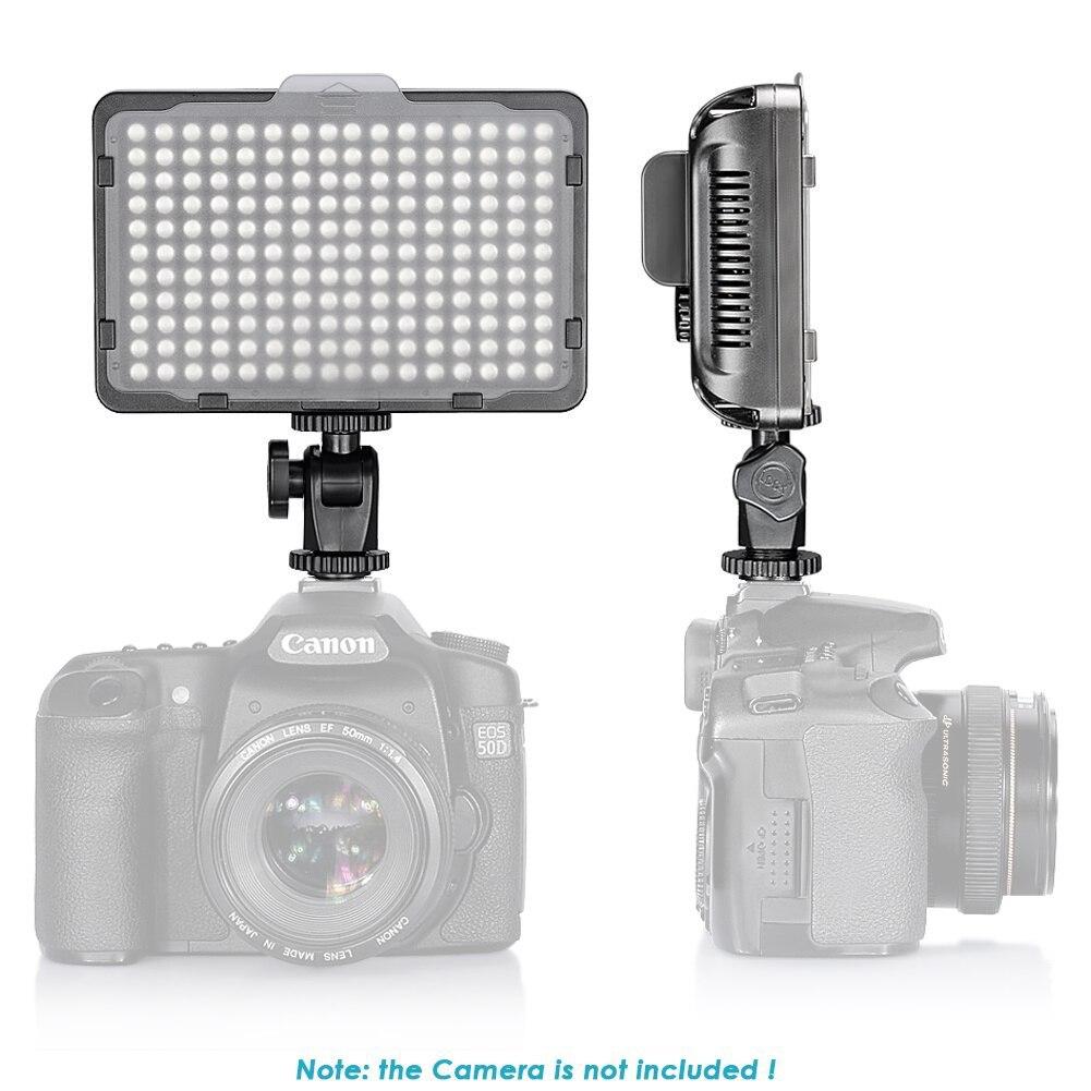 Купить neewer 176 светодиодная лампа для видеосъемки с 2 пакетами литий