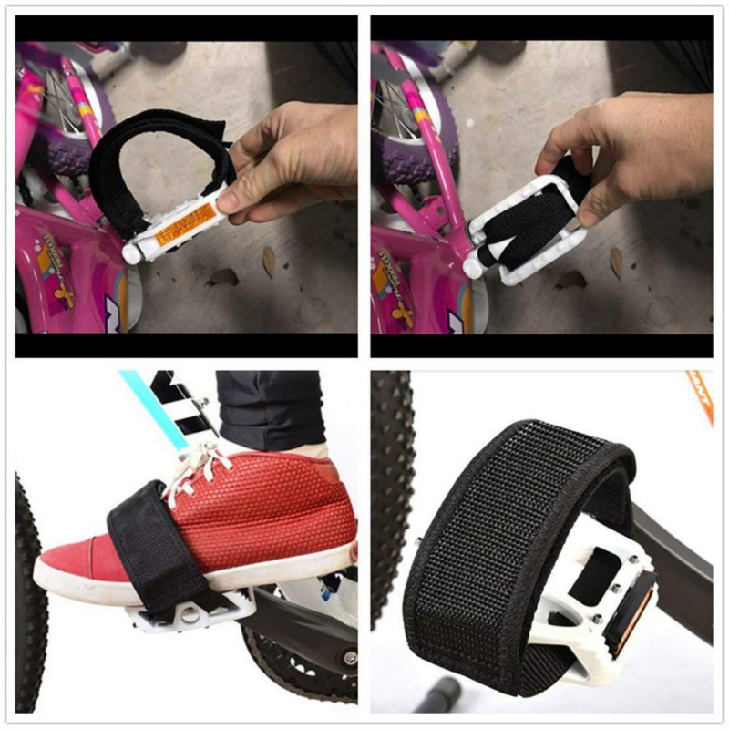 Bicycle Pedal Straps Fixed Belt Toe Clip Strap Belt Adhesivel Bicycle Pedal Tape Fixed Gear Bike Cycling Fixie Nylon Cover